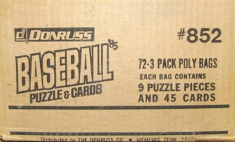 1985 Donruss Baseball Rack Case (Unsealed)