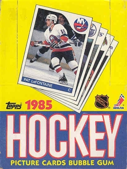 1985/86 Topps Hockey Wax Box