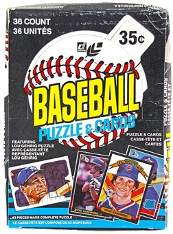 1985 Leaf Baseball Wax Box