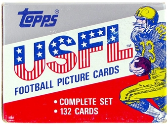 1985 Topps USFL Football Factory Set