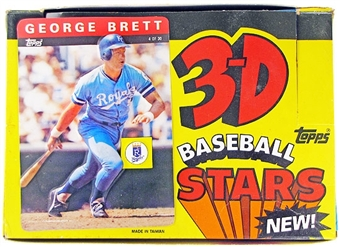 1985 Topps 3-D Baseball Wax Box