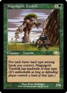 Magic the Gathering Planeshift Single Magnigoth Treefolk - SLIGHT PLAY (SP)
