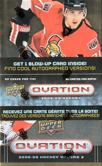 2008/09 Upper Deck Ovation Hockey Volume 2 Box (Tin)