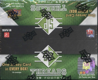 2009 Upper Deck SP Threads Football 24-Pack Box