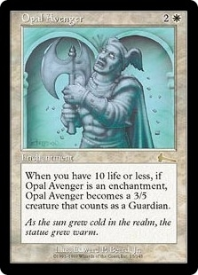 Magic the Gathering Urza's Legacy Single Opal Avenger UNPLAYED (NM/MT)