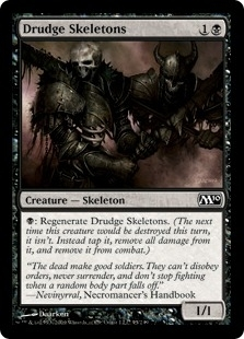 Magic the Gathering 2010 Single Drudge Skeletons Foil