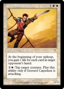 Magic the Gathering Apocalypse Single Gerrard Capashen Foil