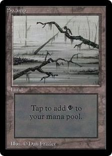 Magic the Gathering Beta Single Swamp (Ver 3) UNPLAYED (NM/MT)