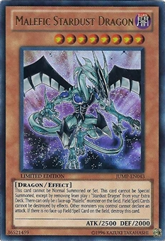 Yu-Gi-Oh Promo Single Malefic Stardust Dragon Ultra Rare JUMP