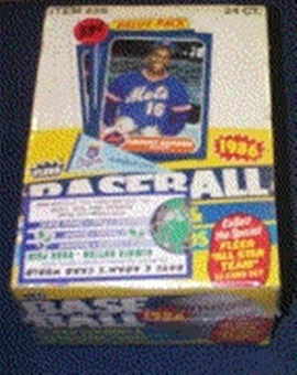 1986 Fleer Baseball Cello Box