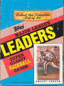 1986 Topps League Leaders (minis) Baseball Wax Box
