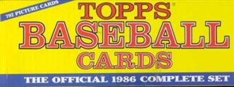 1986 Topps Baseball Factory Set (Christmas Set)