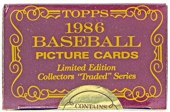 1986 Topps Traded Tiffany Baseball Factory Set (Barry Bonds Rookie!)