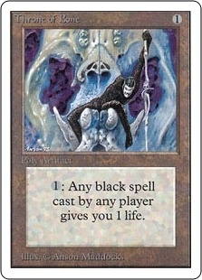 Magic the Gathering Unlimited Single Throne of Bone UNPLAYED (NM/MT)