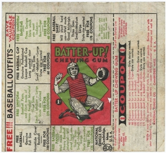 1934/36 National Chicle Batter-UP Baseball Wrapper