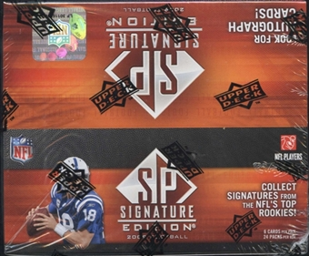 2009 Upper Deck SP Signature Edition Football 24-Pack Box