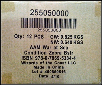 Axis & Allies Miniatures War at Sea Condition Zebra Booster Case (12 ct.)