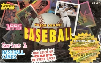 1995 Topps Series 1 Baseball Jumbo Box