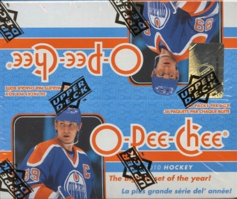 2009/10 Upper Deck O-Pee-Chee Hockey 36-Pack Box
