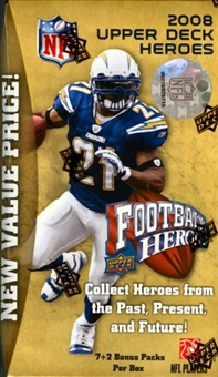 2008 Upper Deck Heroes Football 9 Pack Box