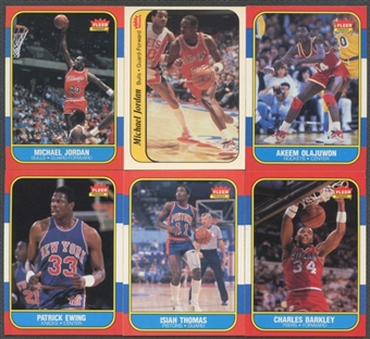 1986/87 Fleer Basketball Complete Set With Stickers (NM-MT)