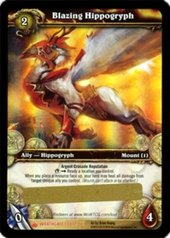 WoW Wrathgate Single Blazing Hippogryph Unscratched Loot Card