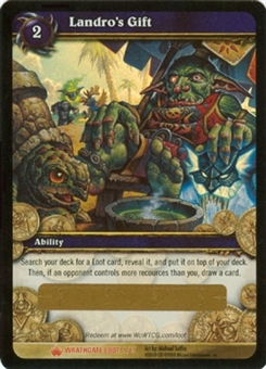 WoW Wrathgate Single Landro's Gift Unscratched Loot Card