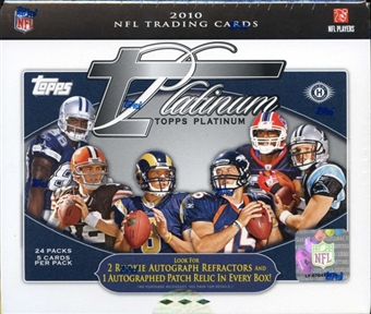 2010 Topps Platinum Football Hobby Box