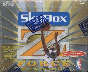 1996/97 Skybox Z-Force Series 2 Basketball Retail Box