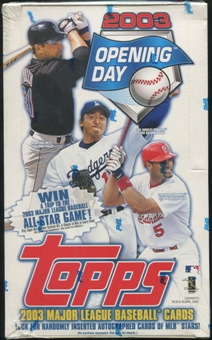 2003 Topps Opening Day Baseball Box