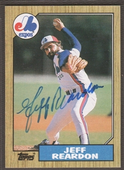 1987 Topps Baseball #165 Jeff Reardon Signed in Person Auto