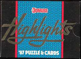 1987 Donruss Highlights Baseball Factory Set