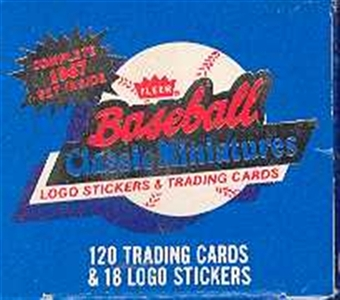 1987 Fleer Miniatures Baseball Factory Set
