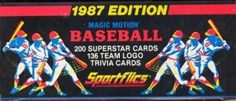 1987 Sportflics Baseball Factory Set