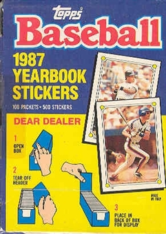 1987 Topps Baseball Yearbook Stickers Wax Box