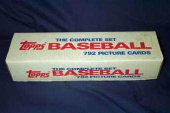1988 Topps Baseball Factory Set (White Box) (In 1987 Topps Set Box)