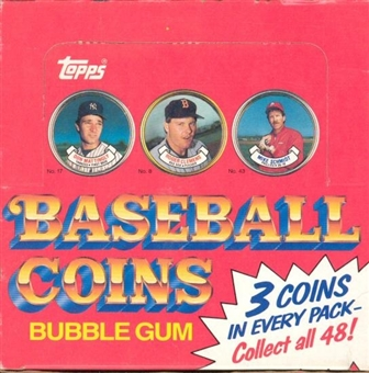1987 Topps Coins Baseball Wax Box