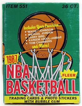 1987/88 Fleer Basketball Wax Box