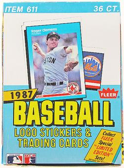 1987 Fleer Baseball Wax 20-Box Case