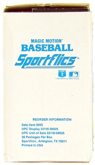 1987 Sportflics Baseball Wax Box