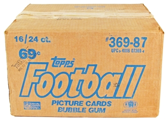 1987 Topps Football Cello 16-Box Case
