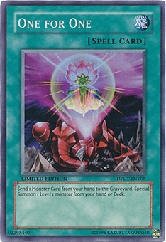 Yu-Gi-Oh Limited Edition Tin Single One for One Super Rare DPCT-ENY08
