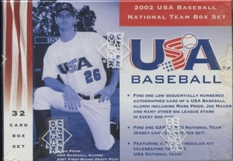 2002 Upper Deck Team USA Baseball Factory Set (Box)