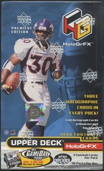 1999 Upper Deck Hologrfx Football Box