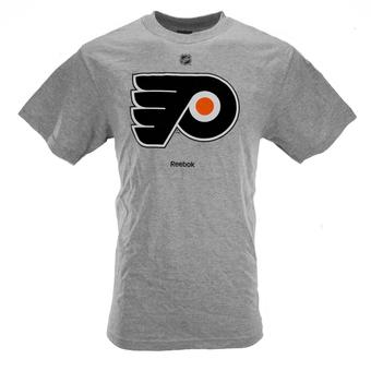 Philadelphia Flyers Reebok Grey Tee Shirt (Adult L)