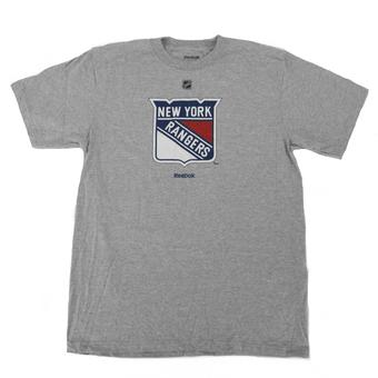 New York Rangers Reebok Grey Tee Shirt (Adult XXL)