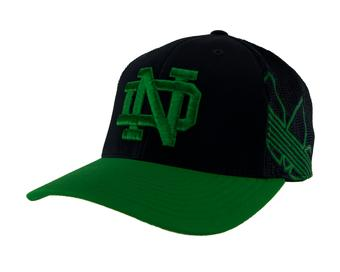Notre Dame Fighting Irish Adidas Navy Branded Logo Mesh Back Flex Fit Hat (Adult S/M)