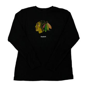 Chicago Blackhawks Reebok Black Long Sleeve Thermal Shirt (Adult S)