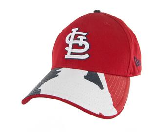 St. Louis Cardinals New Era 39Thirty Red Swing Batter Flex Fit Hat (Adult M/L)