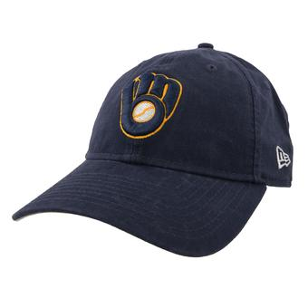 Milwaukee Brewers New Era 9Twenty Navy Adjustable Hat (Adult OSFA)